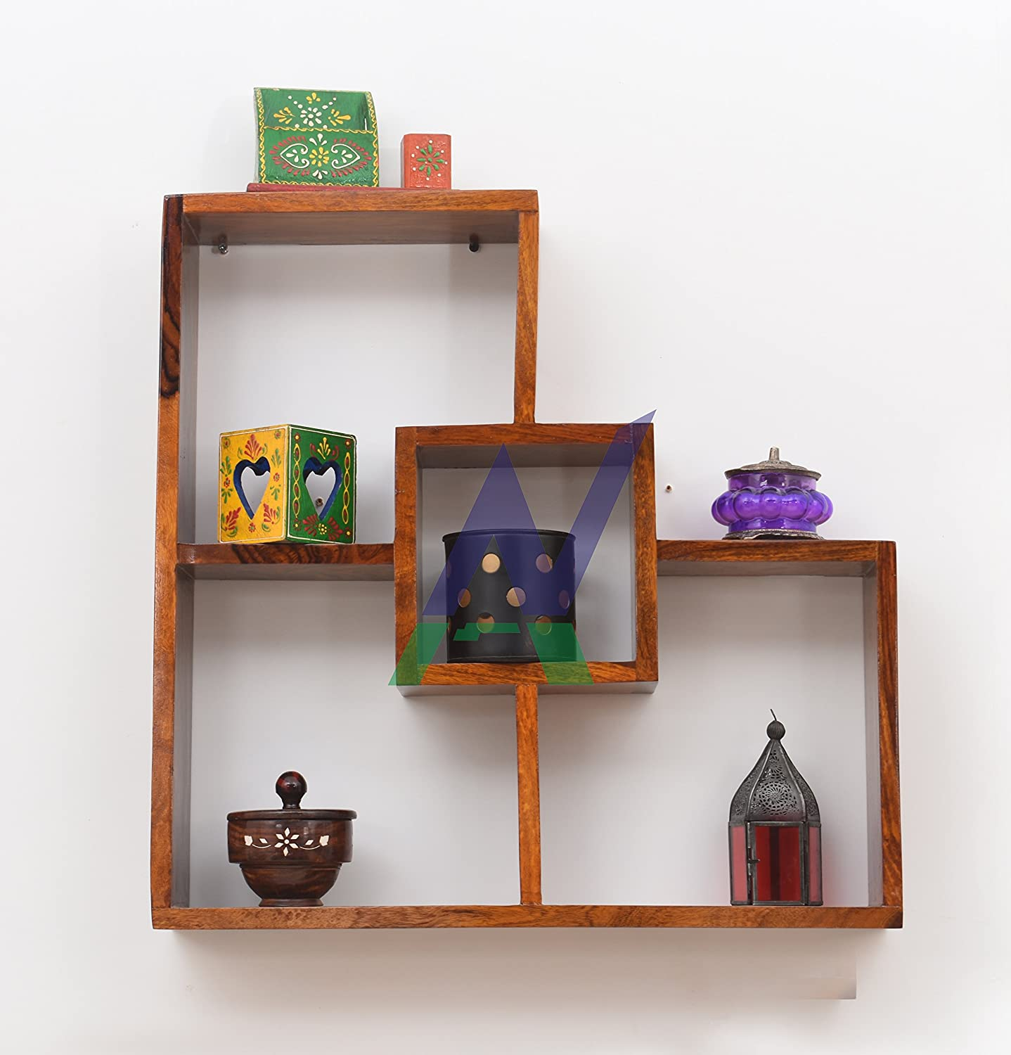 Bharat Furnish House-decorative Wall Shelves Floating Wall Shelf Made With  Indian Solid Sheesham Wood-natural Wood Color