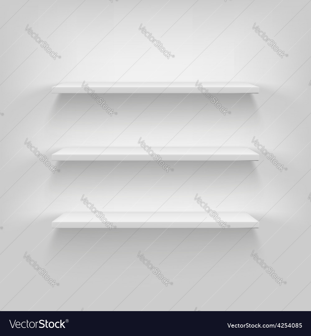 Shelves Attached To The Wall Royalty Free Vector Image