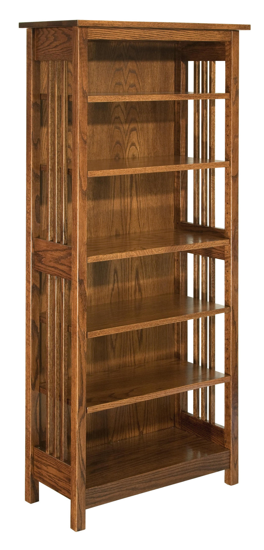 Mission Bookcase With 5 Adjustable Shelves