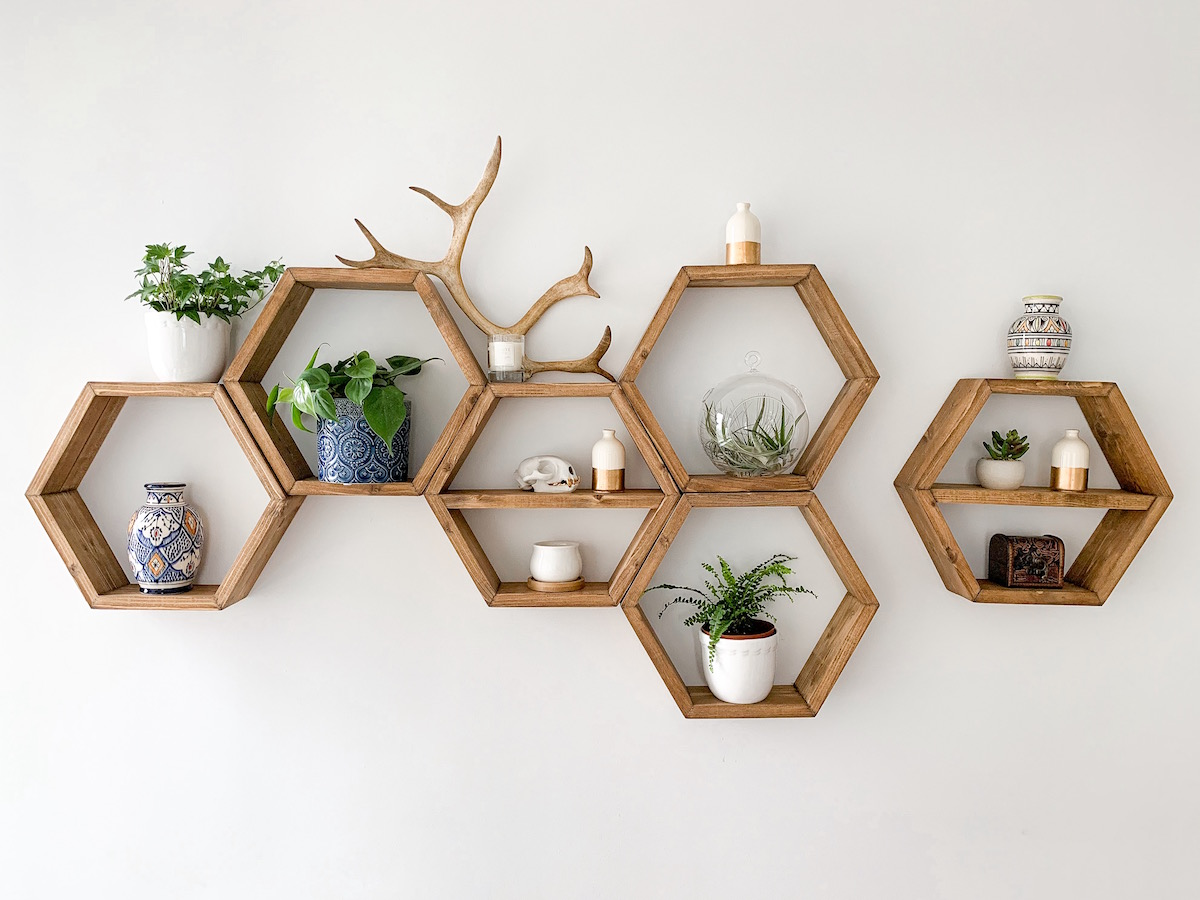 How To Decorate Honeycomb Shelves   Katie's Bliss