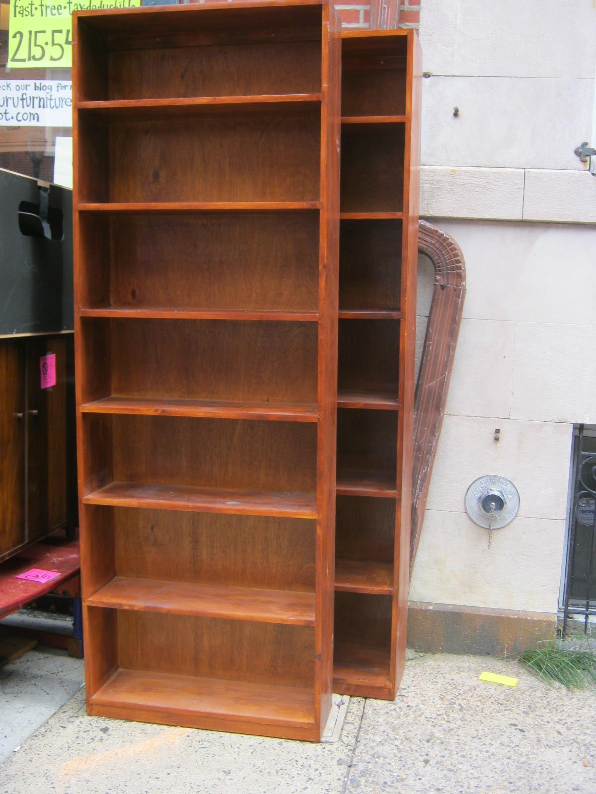 Uhuru Furniture & Collectibles: Tall Wood Book Shelves Sold