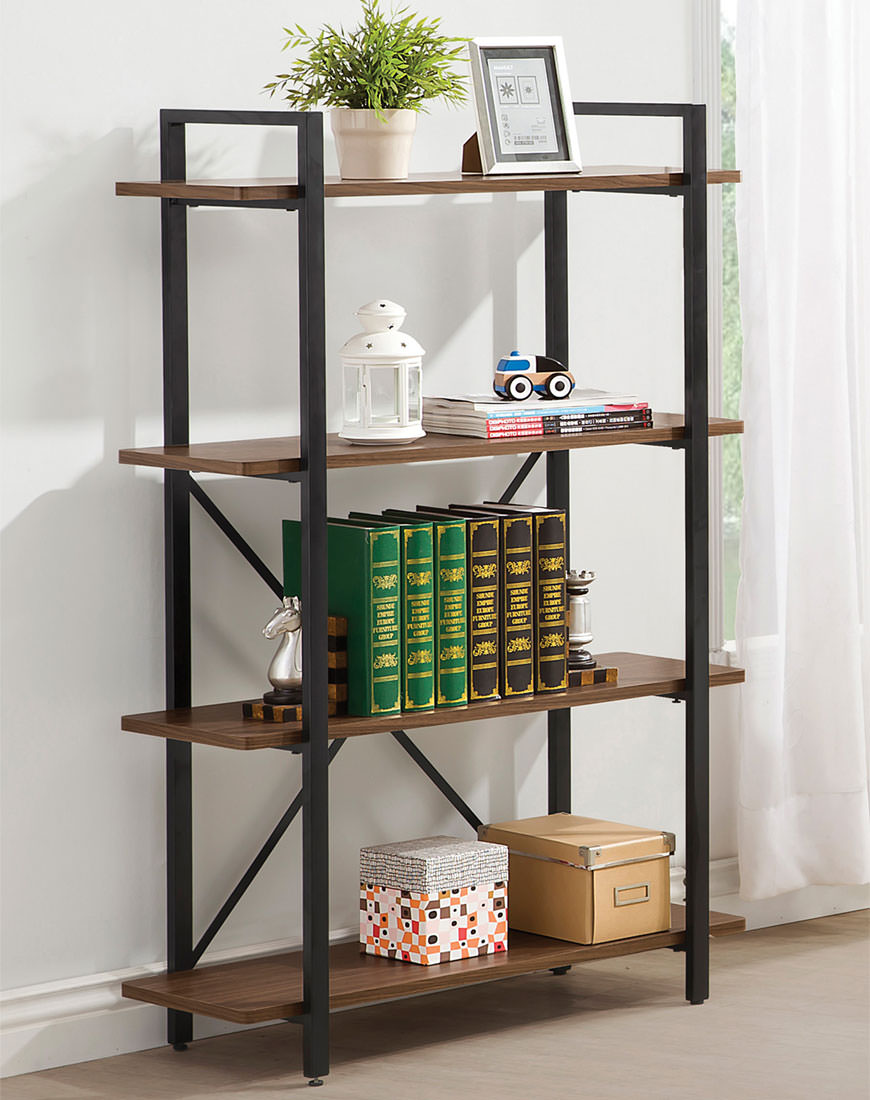 Coaster Industrial Style Bookcase With 4 Shelves - Austin's