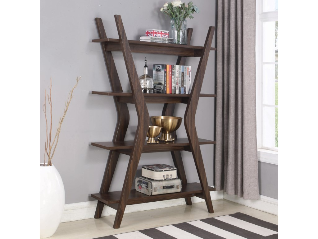 Coaster Accent Cabinets 802659 Contemporary Bookcase With 4 Shelves