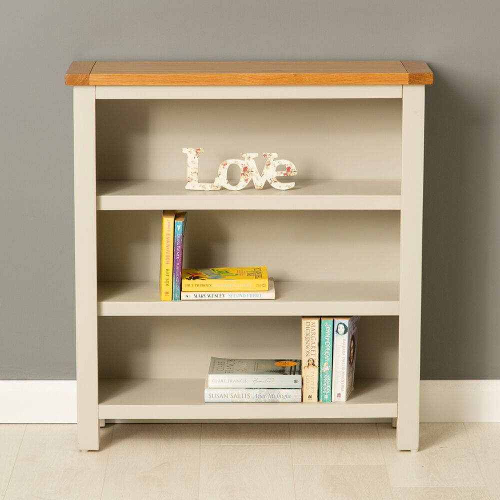 Roseland Furniture Mullion Painted Low Bookcase With Adjustable Shelves Wood