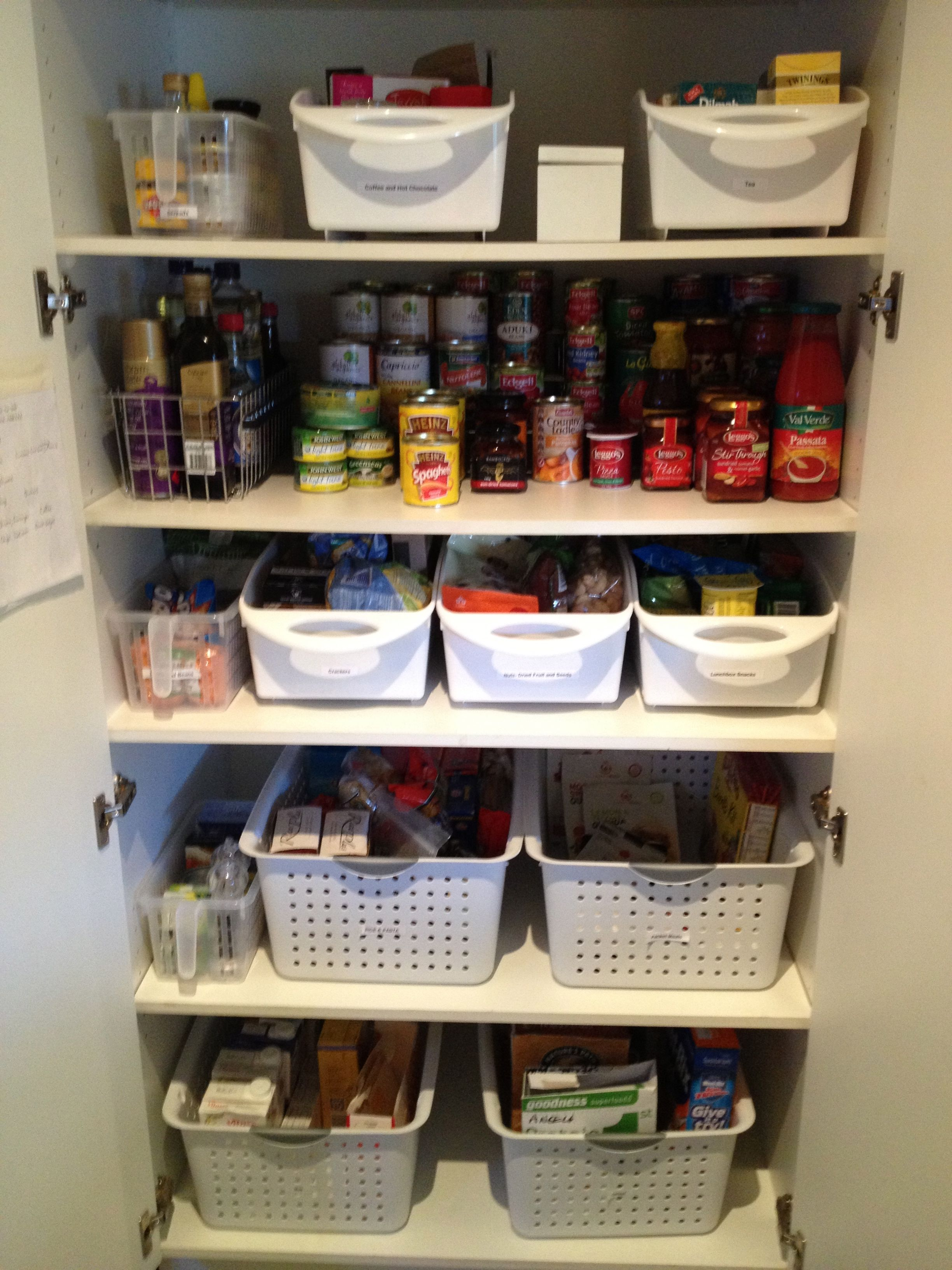 Organising A Kitchen Pantry With Deep Shelves | Perfect