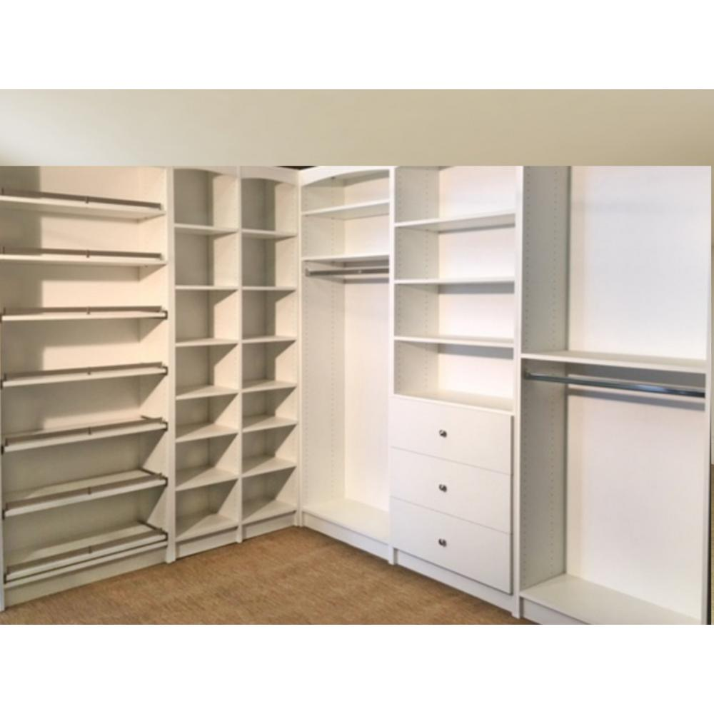Walkin 14 In D X 1595 In W X 84 In H Gray Woodfreestanding Closet  System Several Adjustable Shelves