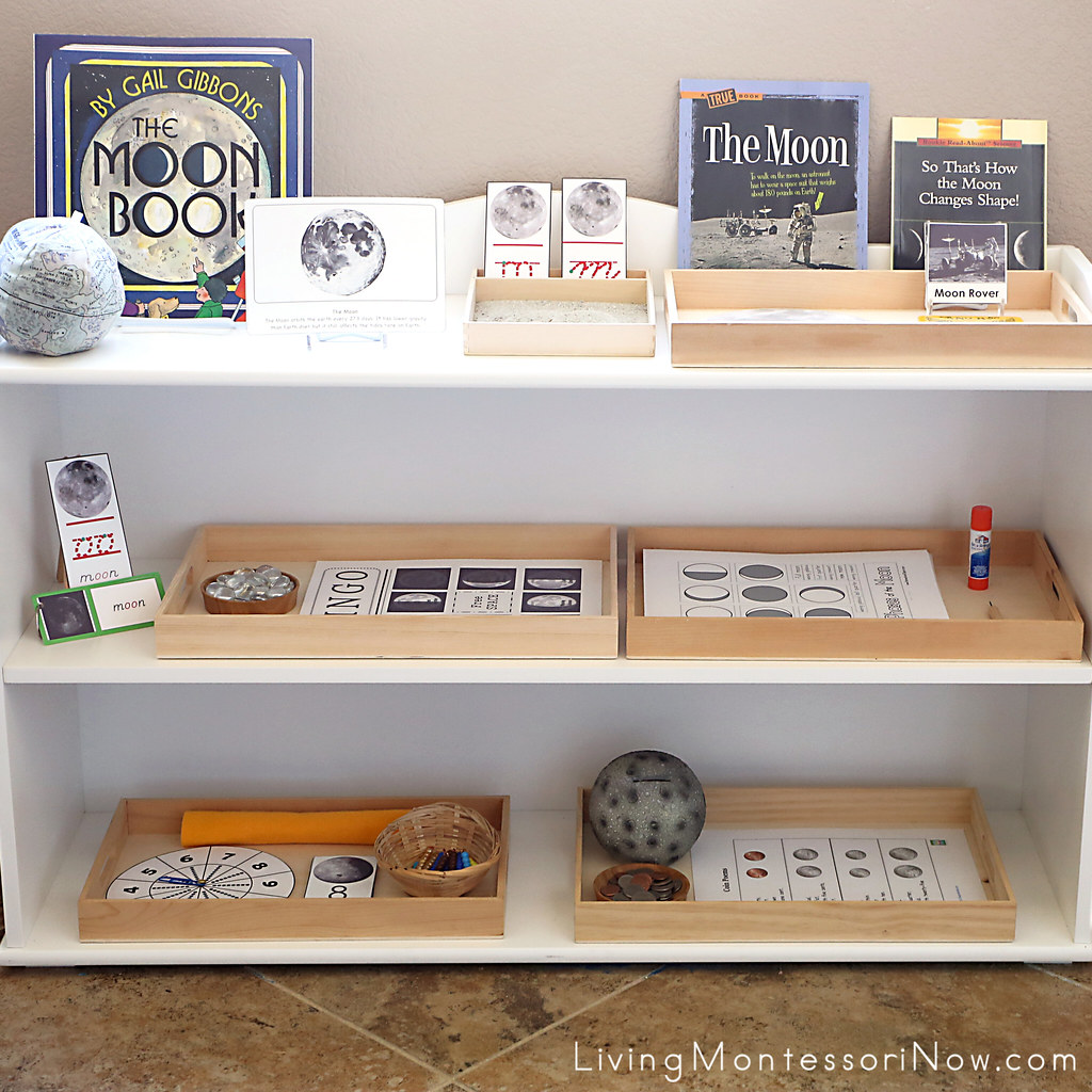 Shelves With Moon Themed Activities | Deb Chitwood | Flickr