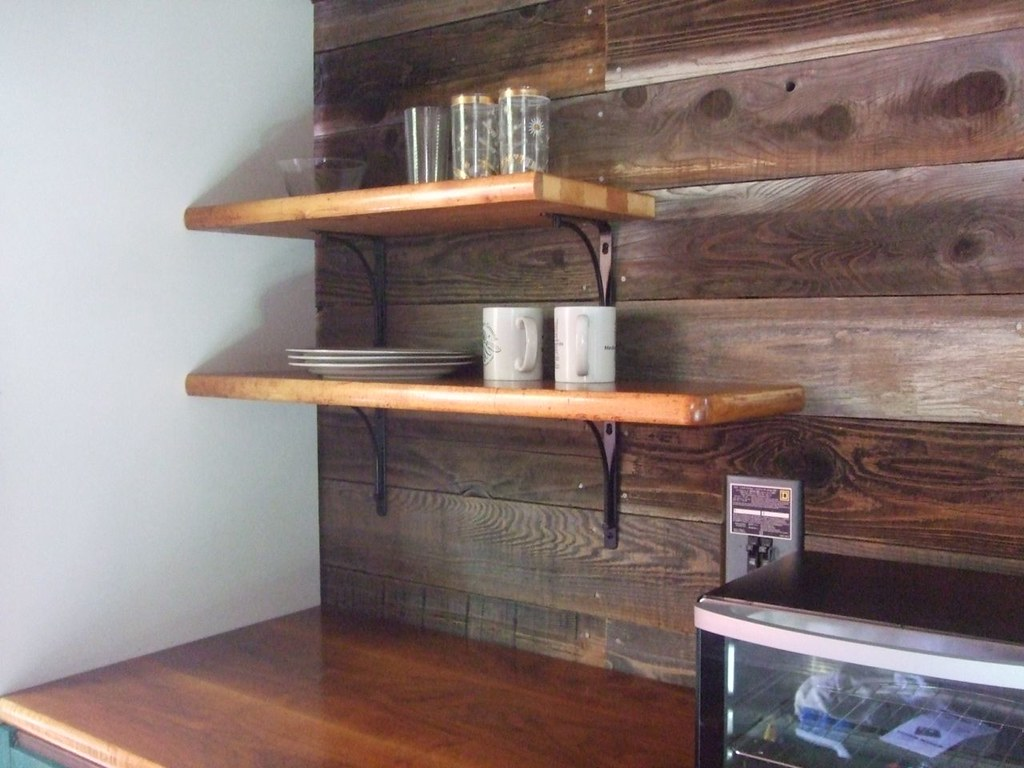 Kitchen Shelves From Desk | Matches Counter Cut To Fit A Be