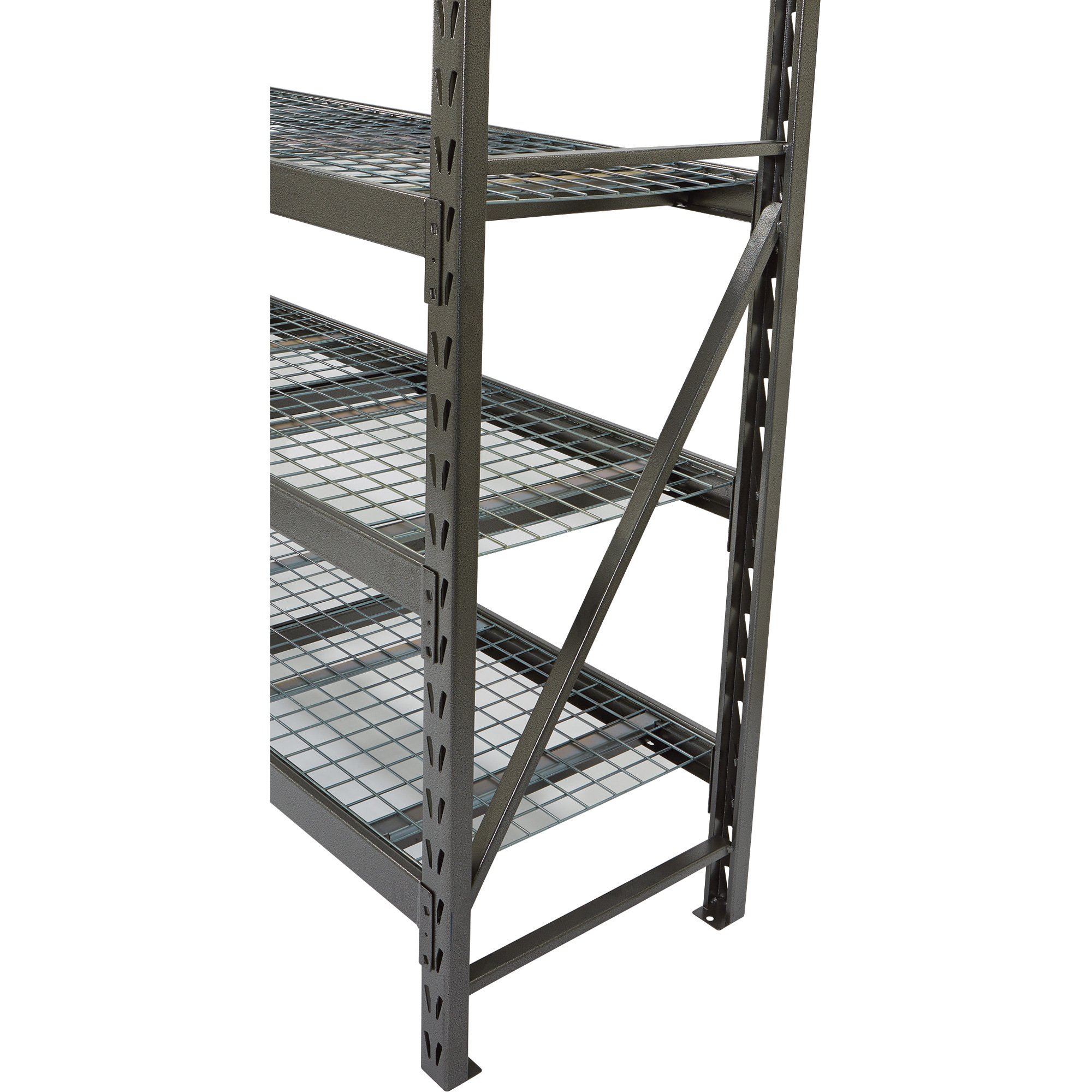 Strongway Steel Shelving — 72inw X 24ind X 72inh, 4 Shelves