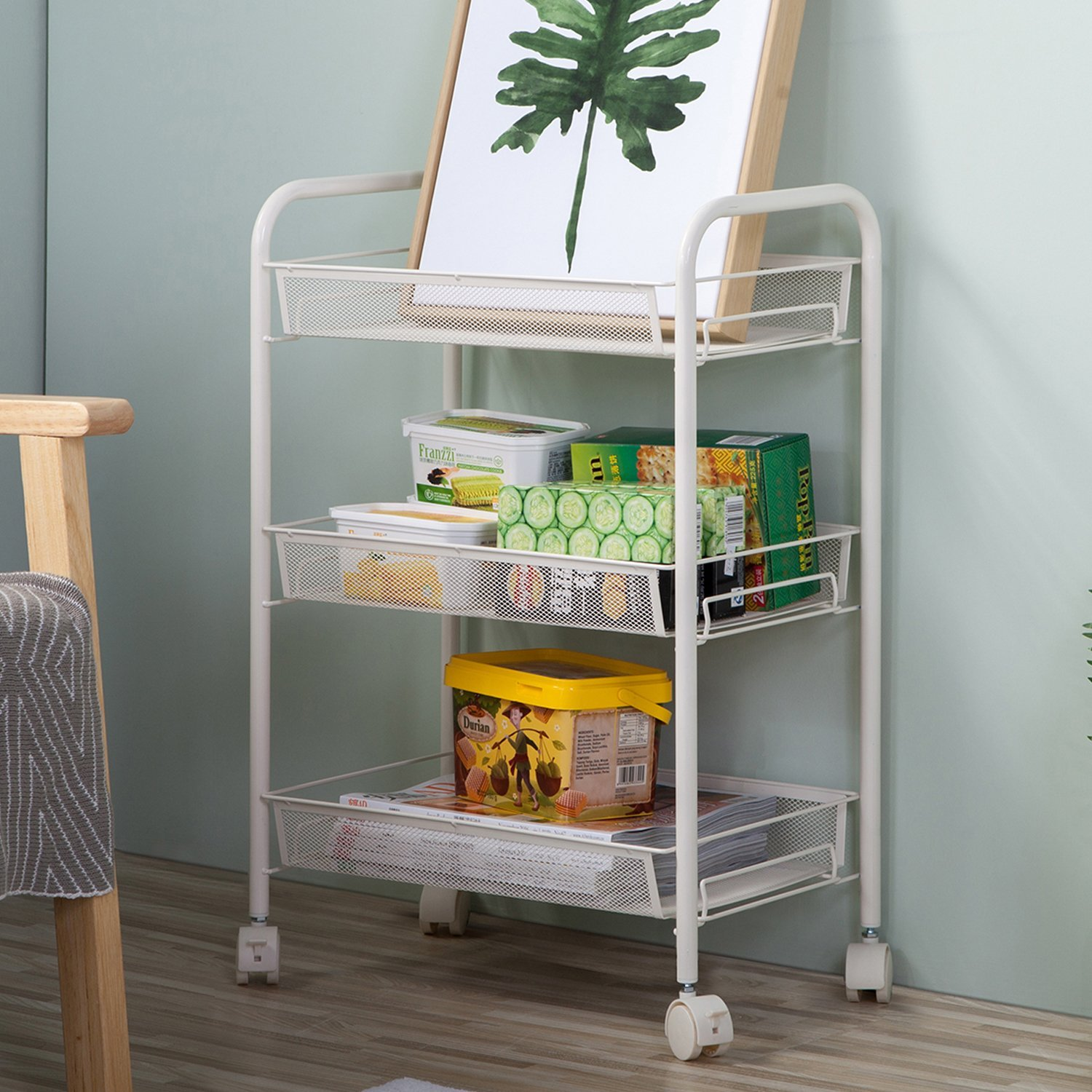Details About Shelving Rack 3 Shelf Shelves Rolling Kitchen Pantry Storage  Utility Cart Us