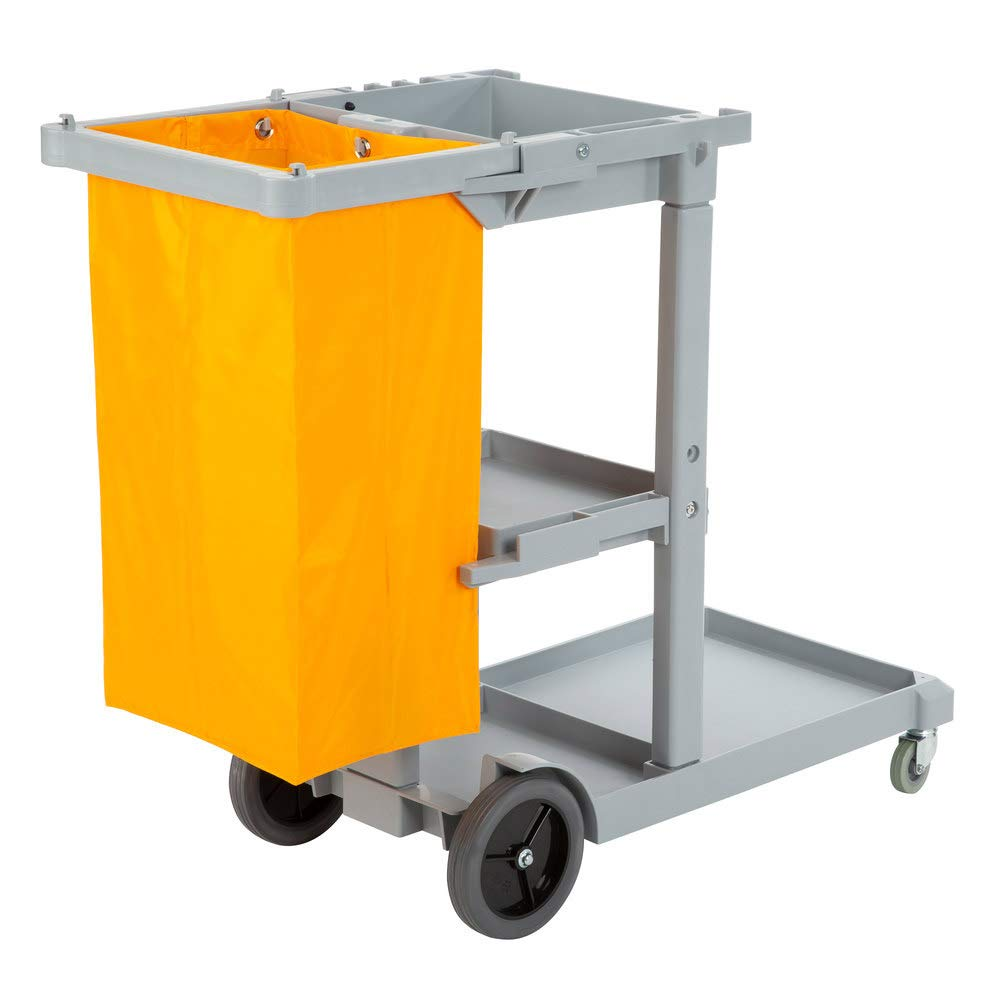 Janitorial Cleaning Cart With 3 Shelves And
