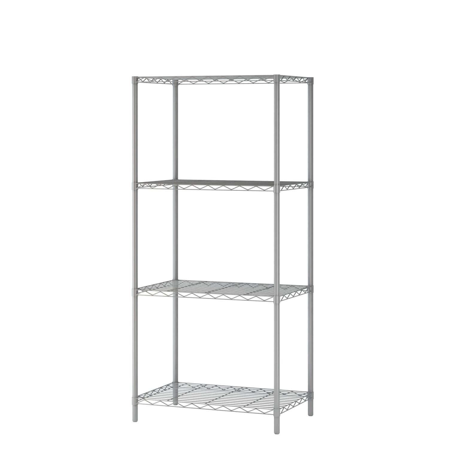 Homebi 4-tier Wire Shelving 4 Shelves Unit Metal Storage Rack Durable  Organizer Perfect For Pantry Closet Kitchen Laundry Organization In