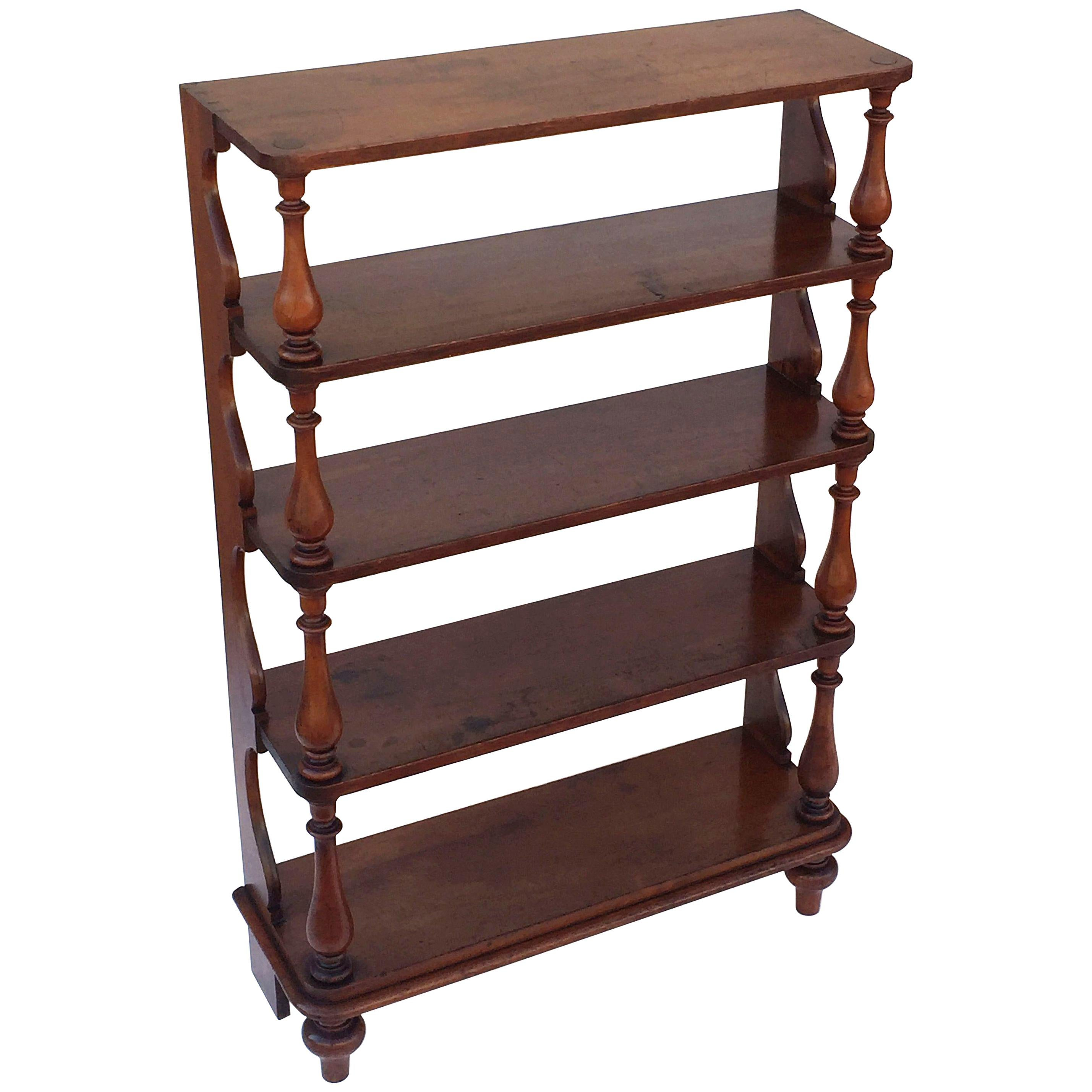 Tall English Standing Shelves Or Bookcase ã�tagã¨re Of Fruitwood At