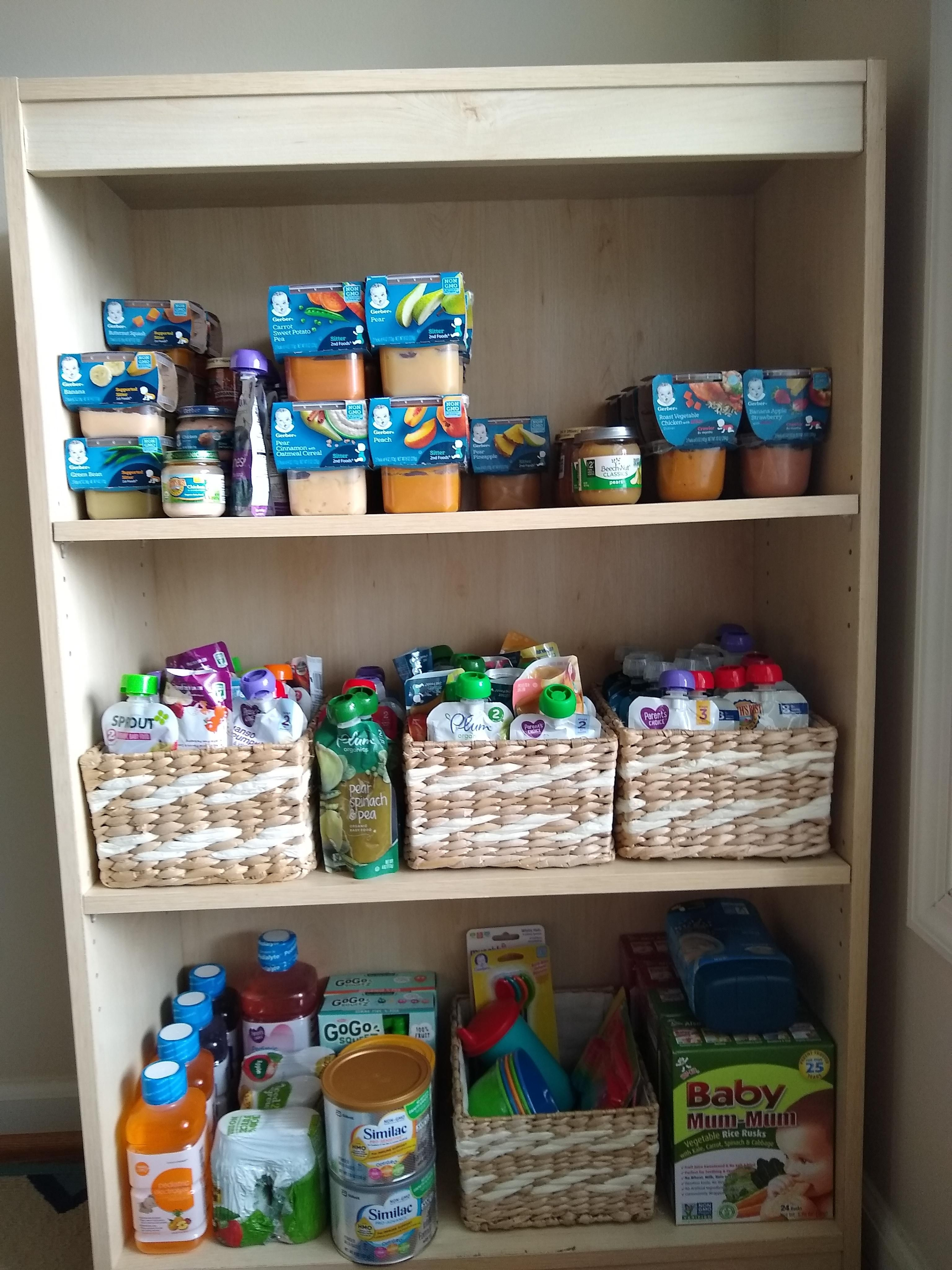 Oc] Baby Food Bookshelf Top And Middle Shelves Are