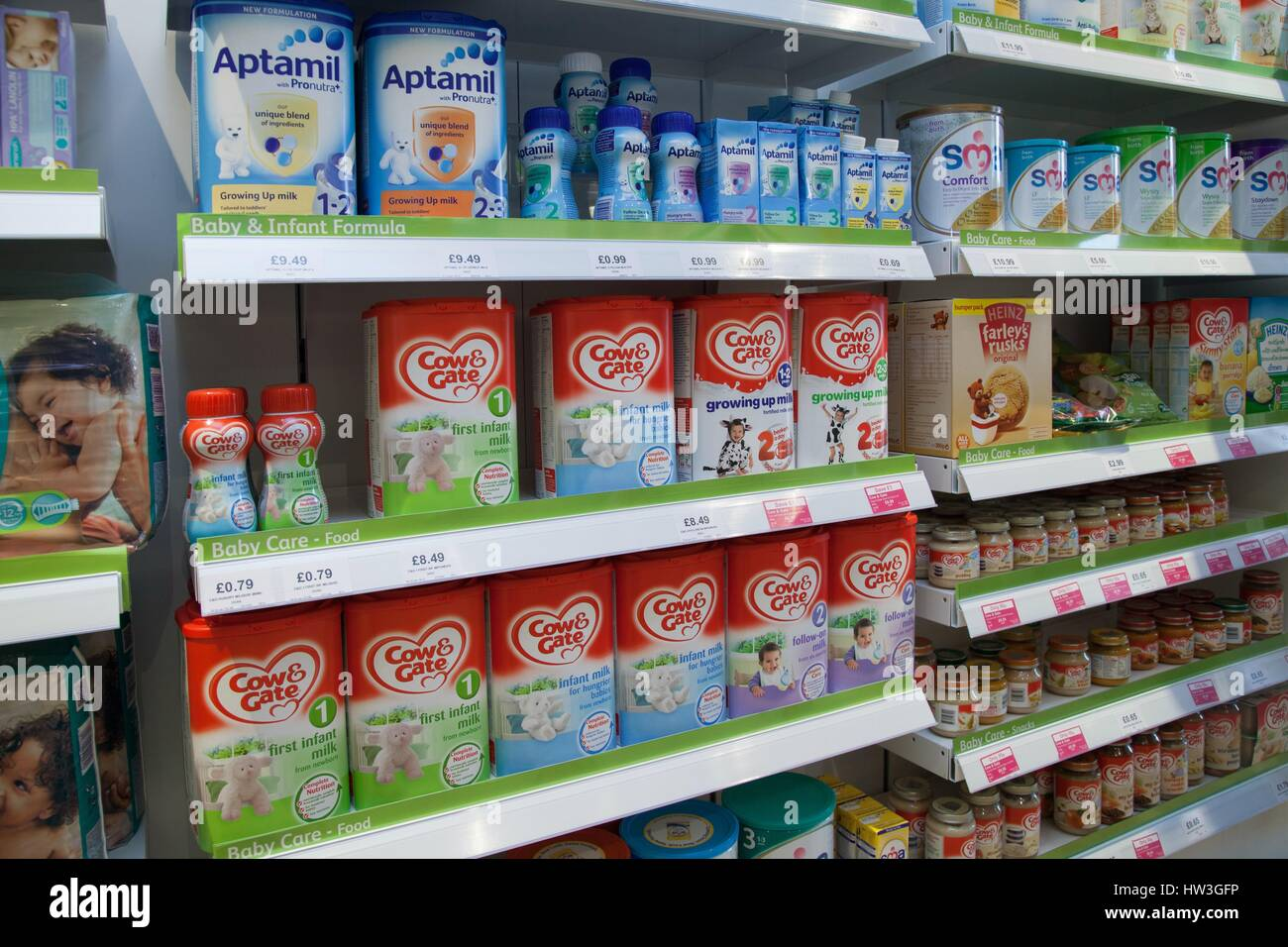 Baby Milk And Baby Food Products Products On The Shelves Of