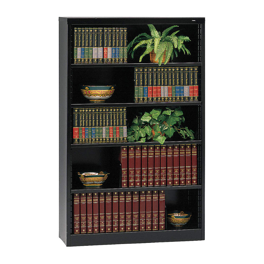 """Tennsco 38"""" X 12"""" X 60"""" Stationary Bookcase With 5 Shelves"""