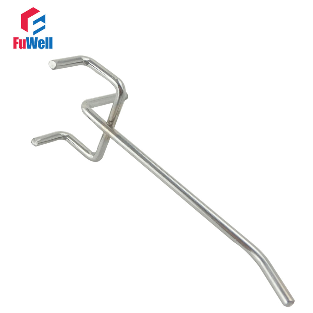 Us $737 17% Off 10pcs 150mm Length Supermarket Shelves Hole Plate Pegboard  Hook Jewelry Display 33mm Wire Dia 32mm Hole Pitch Display Hooks-in