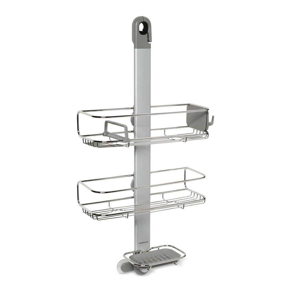 The Simplehuman Adjustable Shower Caddy Has Shelves That Are