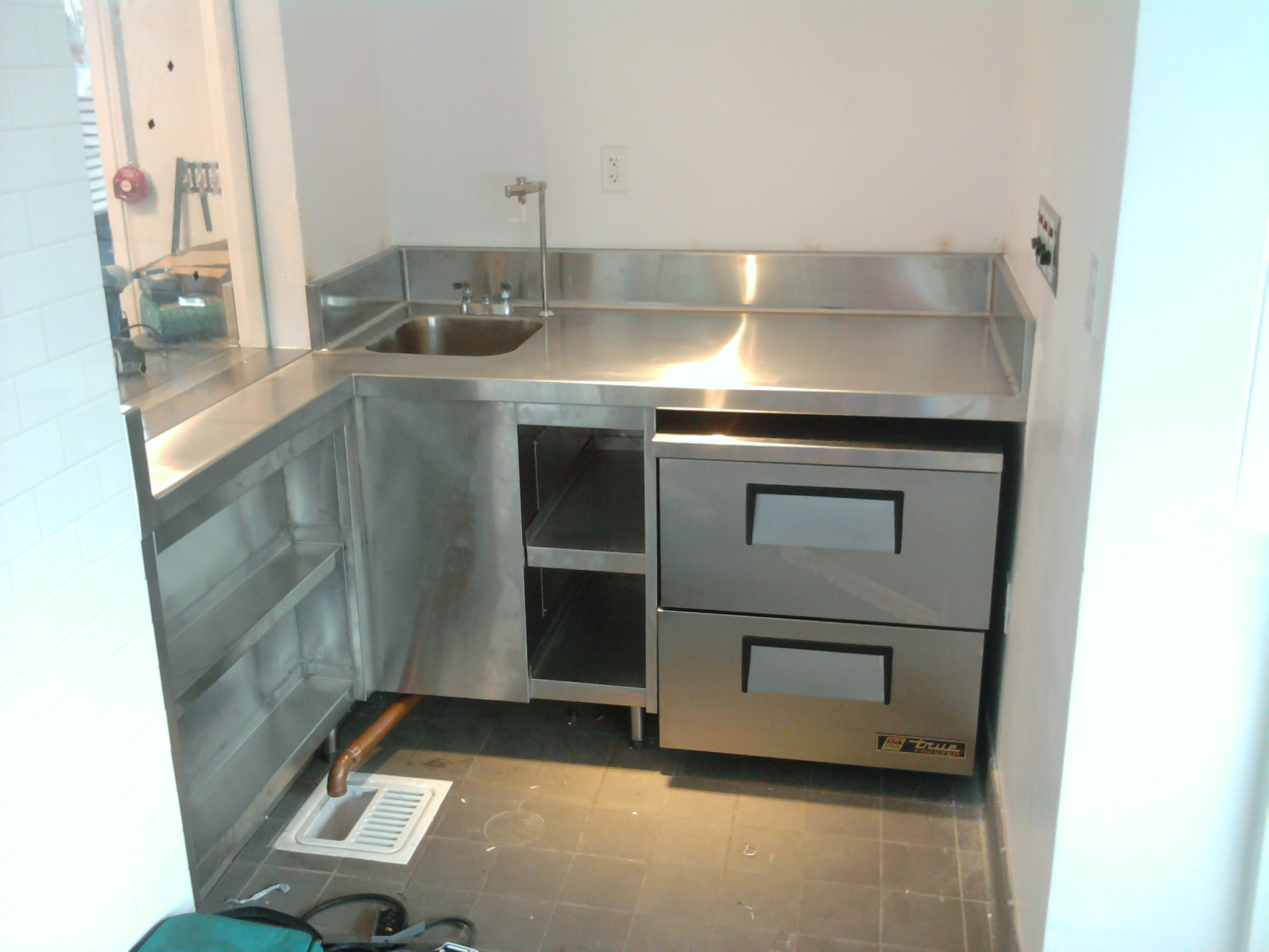 Stainless Steel Countertop With Shelves - Jnl Stainless Inc
