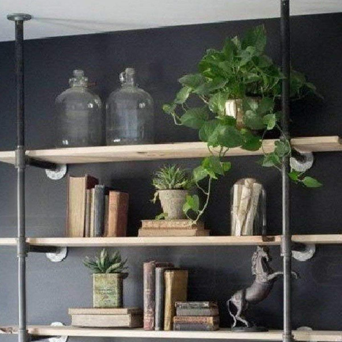3 Industrial Floating Shelves To Help You Save Floor Space