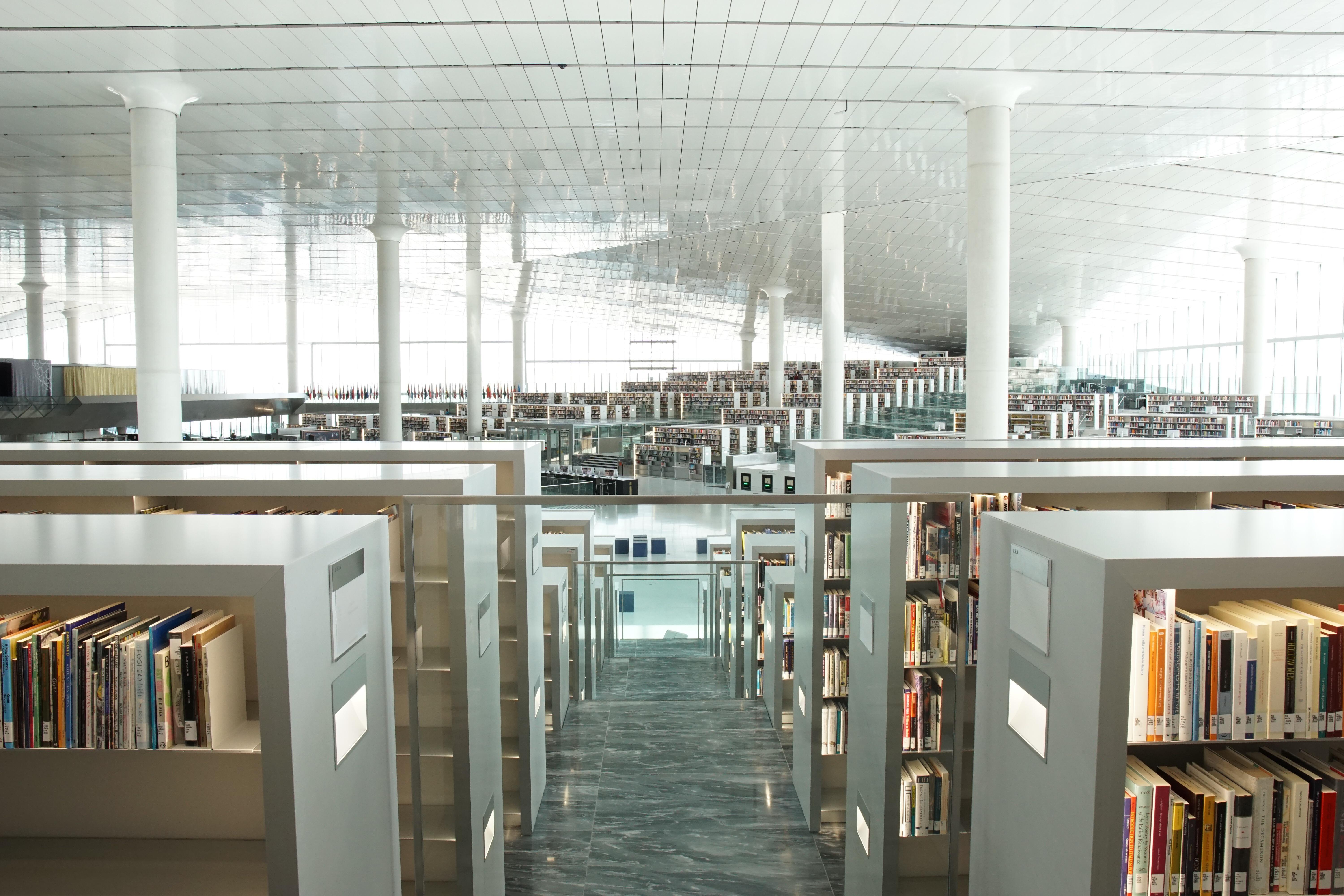Shelves After Shelves- Qatar National Library   Sony A6000