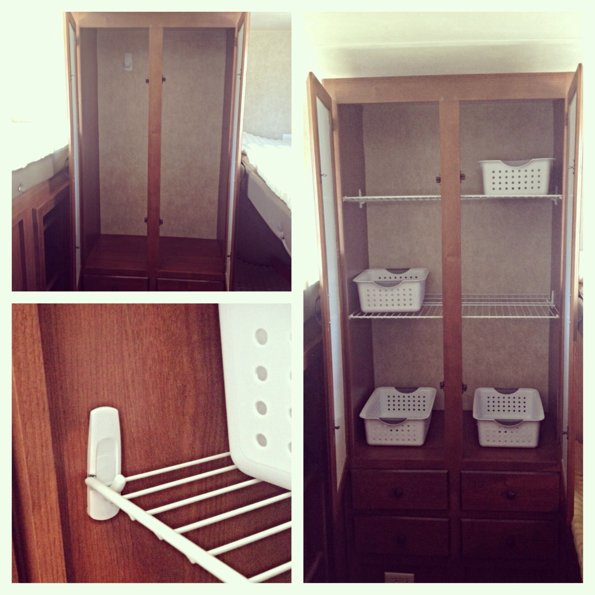 Put Some Shelves In One Of The Closets In The Rv Had Home