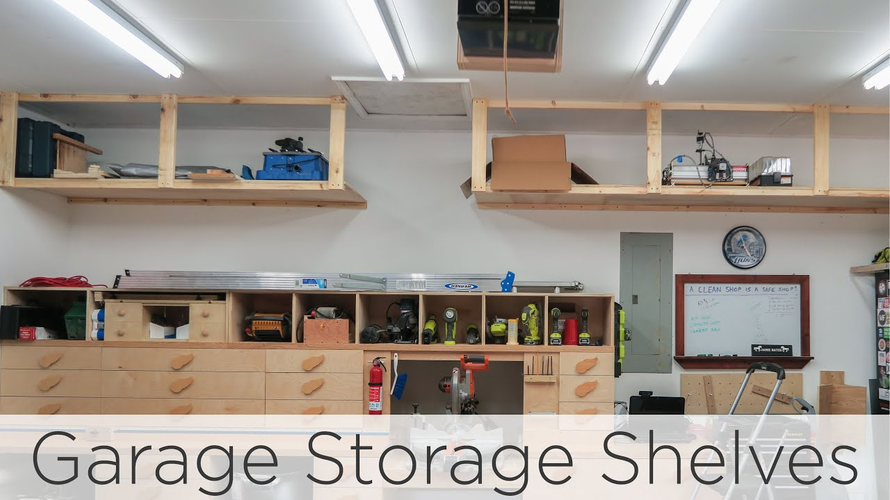 Wasted Space: High Garage Storage Shelves: 8 Steps (with