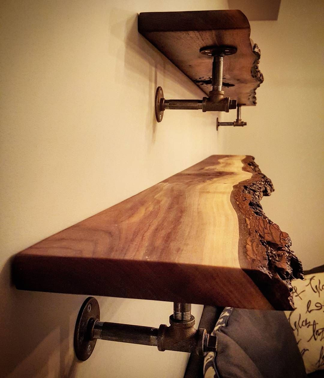 38 Best Live Edge Shelves Images In 2016 | Entry Tables, Live Edge