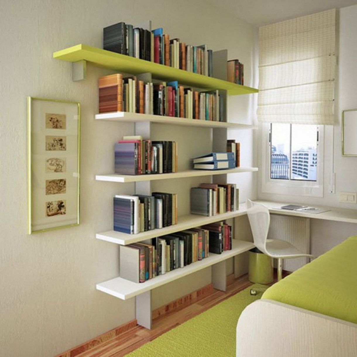 Charming Wall Shelves Storage Ideas For Small Apartment