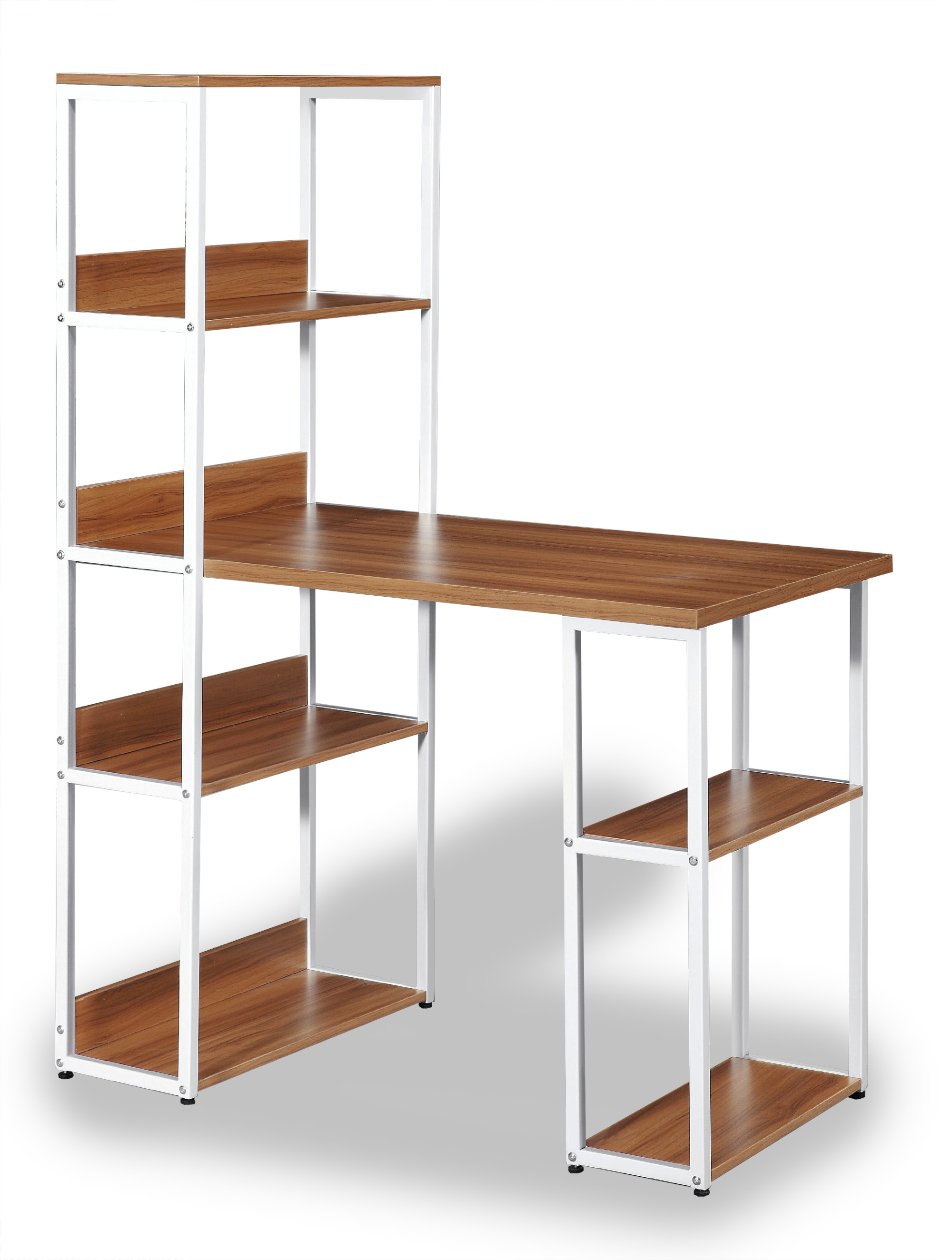 Owain Study Table With Storage Shelves
