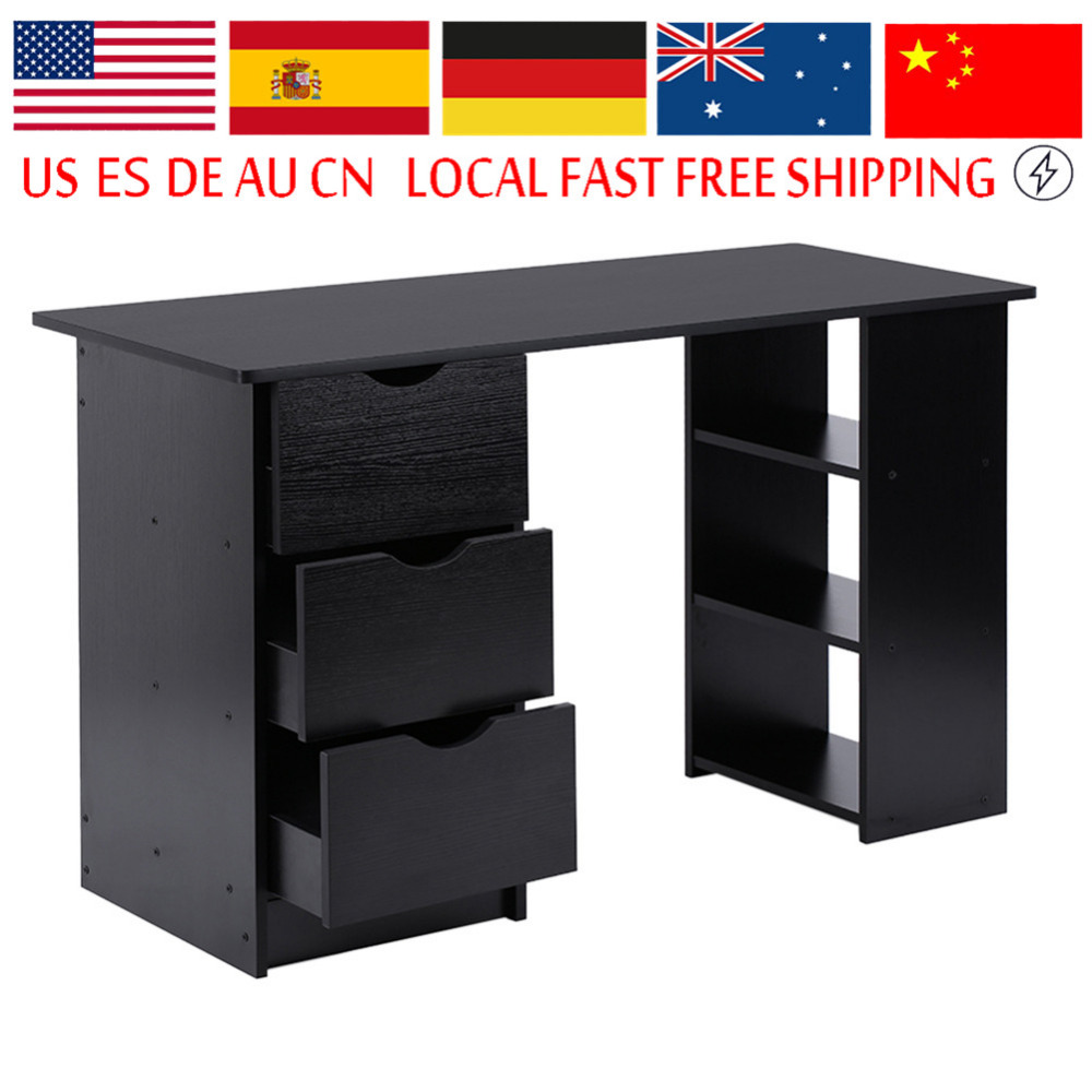 Us $7246 11% Off|modern And Practical Computer Desk Office Student Study  Table Corner Furniture With Drawers And Cupboard Shelves-in Laptop Desks