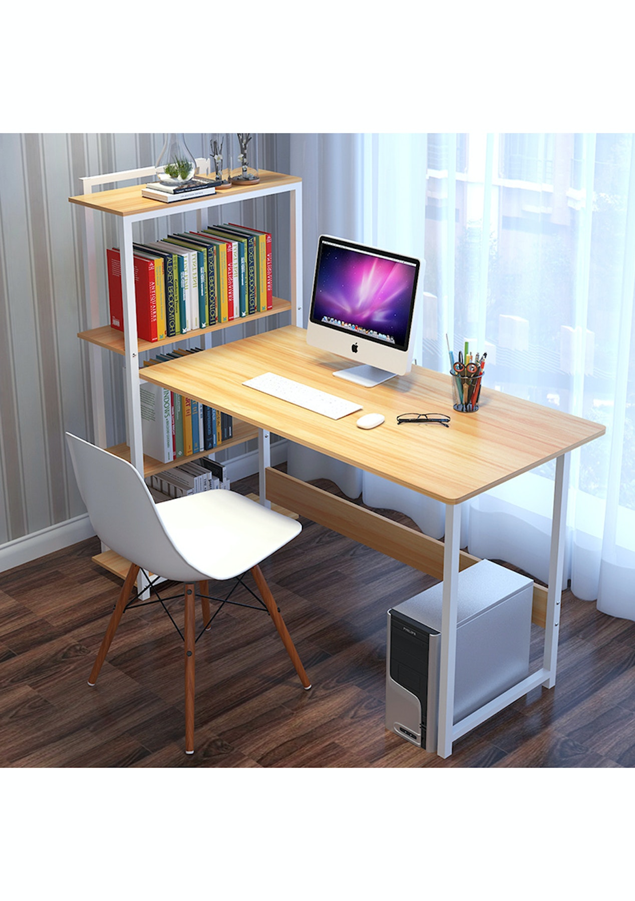 Study Desk With Shelves