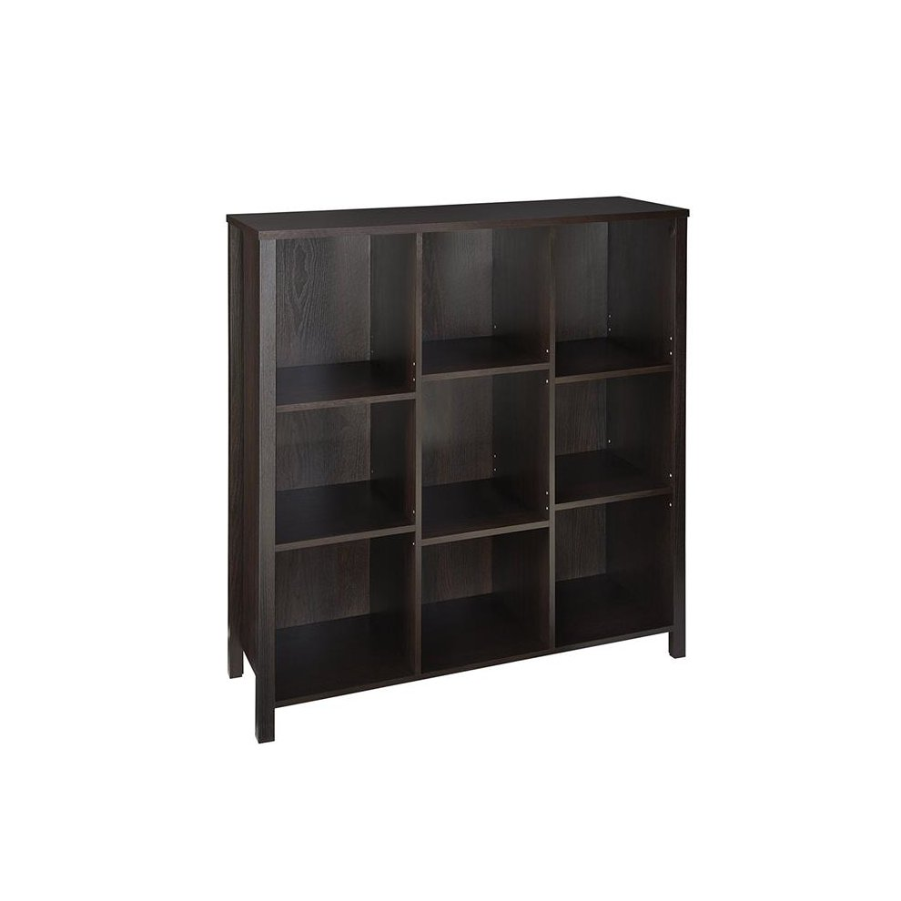 Closetmaid 16058 38 In 9-cube Organizer With Adjustable Shelves - Black  Walnut