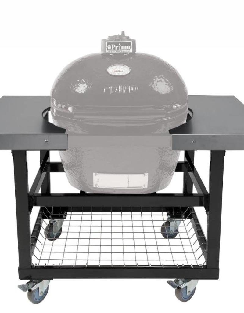 Primo Ceramic Grills Primo Cart With Basket And Stainless Steel Side  Shelves For Oval Xl 400 Or Lg 300