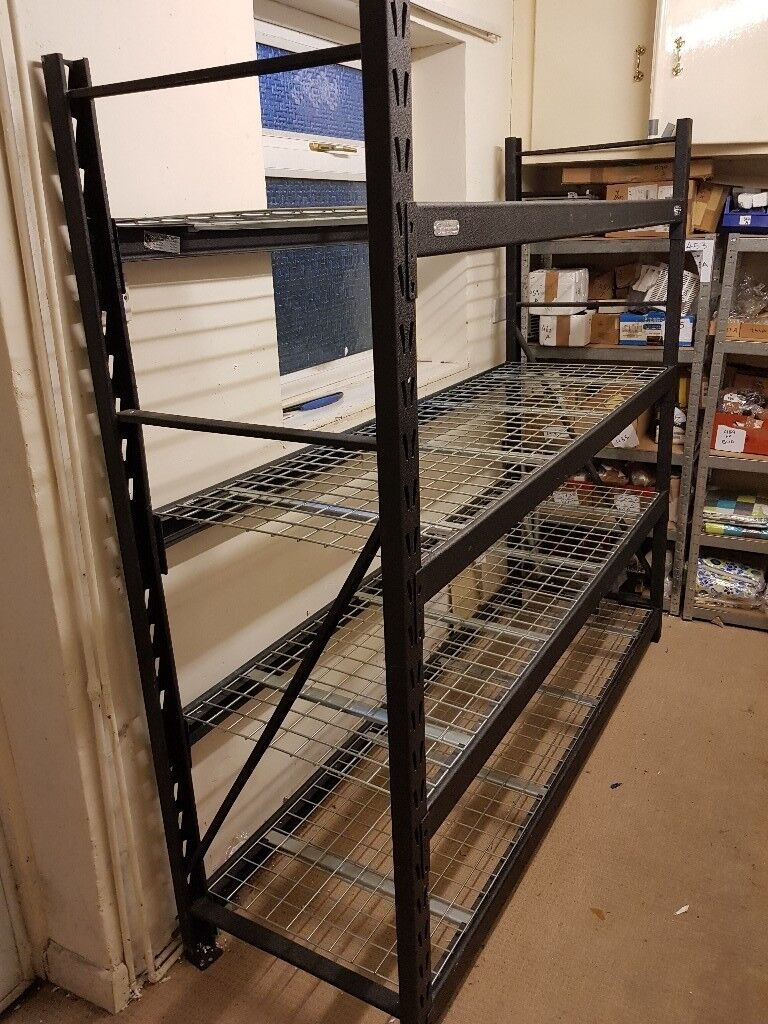"""Whalen 4 Tier 77"""" (195cm) Industrial Storage Heavy Duty Adjustable  Shelves   In Leicester, Leicestershire   Gumtree"""