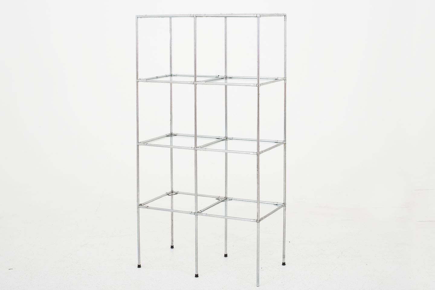 Paul Cadovius / Cado Abstracta Storage System With Shelves In Glass And  Frame In Chromed Steel 1 Pc In Stock Good, Used Condition With A Few  Damages