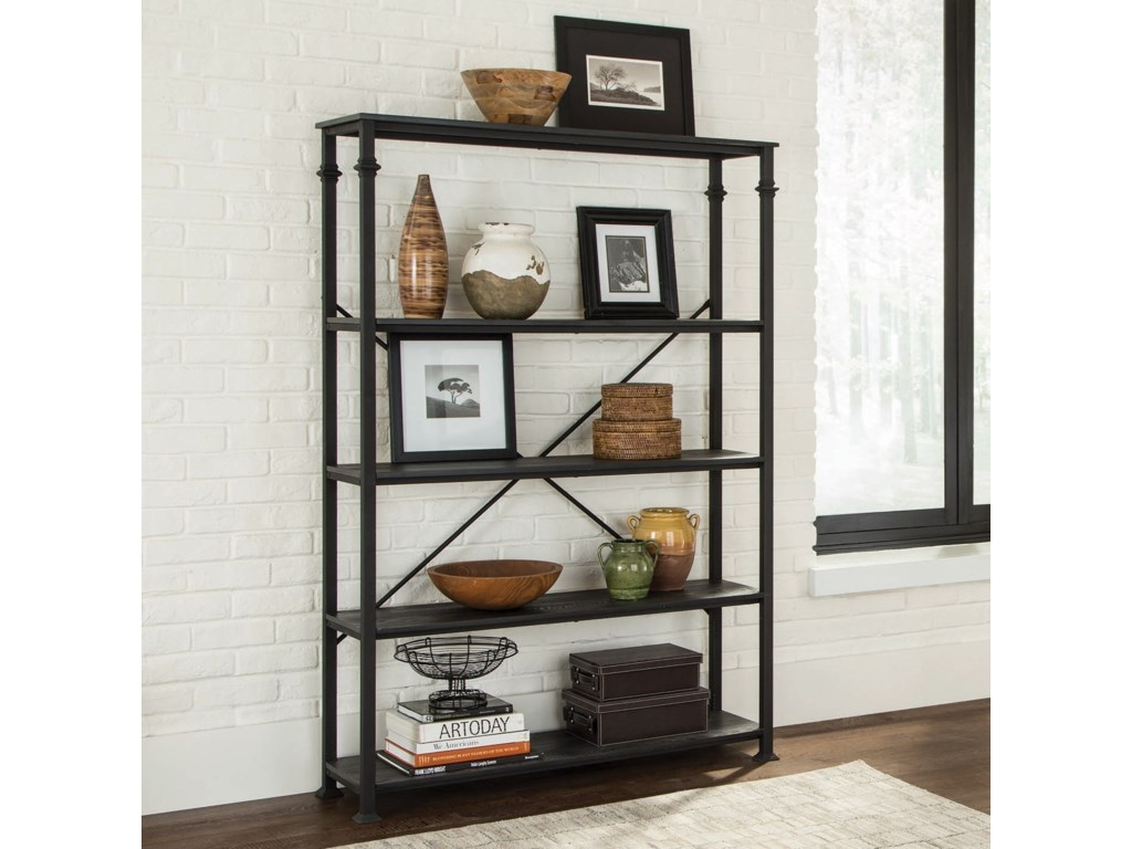 Coaster Accent Cabinets Industrial Double Bookcase With 4 Shelves