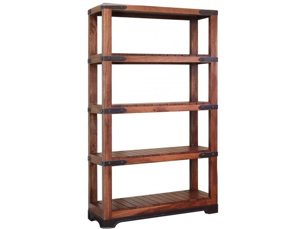 Parota Solid Mango Wood Bookcase With 4 Slatted Shelves By International  Furniture Direct At Steger's Furniture