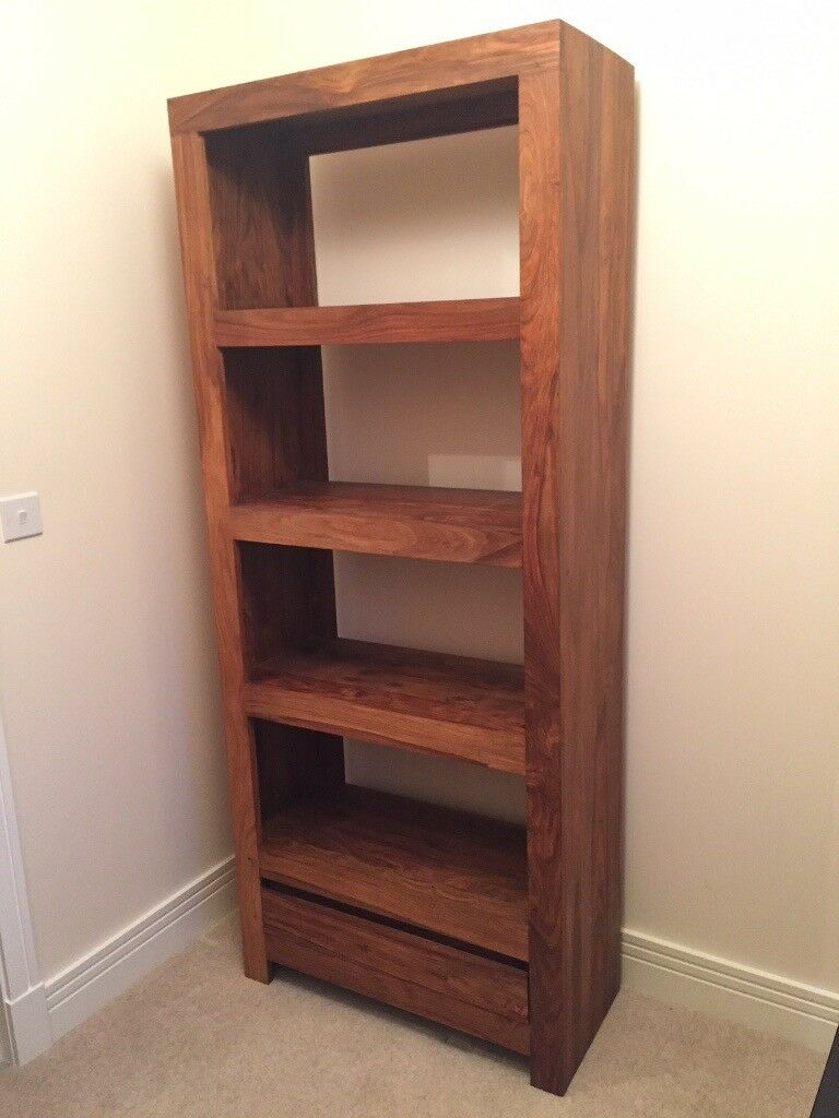 Solid Indian Rosewood (sheesham) Shelves / Bookcase M&s 'tiga' Range  Great Condition â£80 | In South Queensferry, Edinburgh | Gumtree