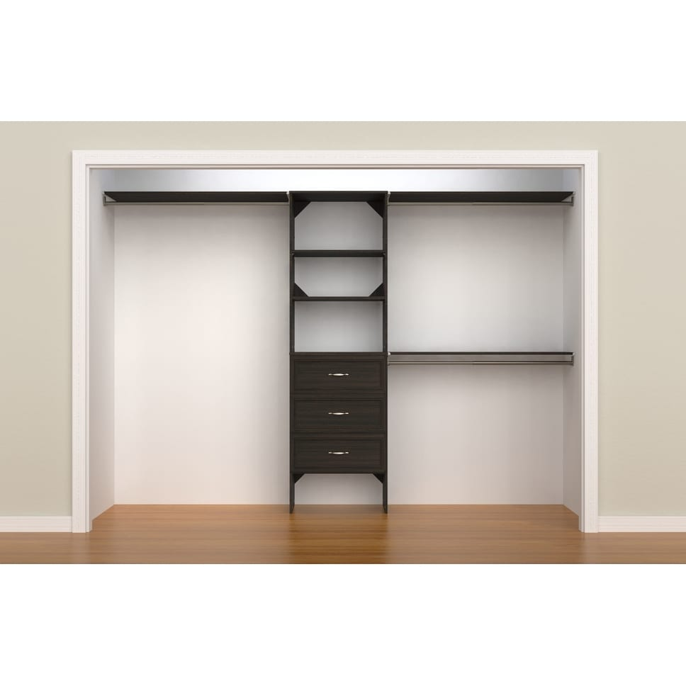 "Closetmaid Suitesymphony 25 In Closet Organizer With Shelves And 3 Drawers  - 25"" Wide"