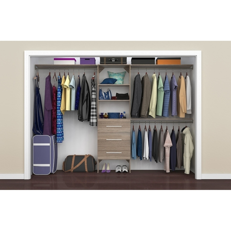 """Closetmaid Suitesymphony Modern 25 In Closet Organizer With Shelves And 3  Drawers - 25"""" Wide"""