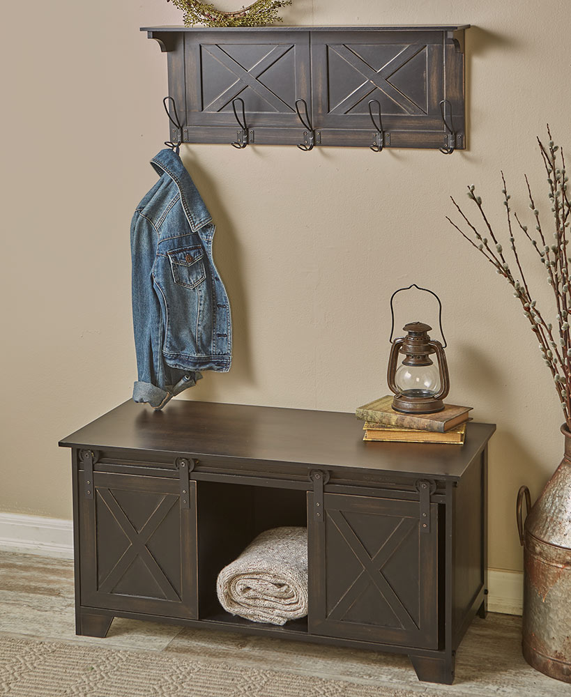 Barn Door-style Entry Benches Or Wall Shelves