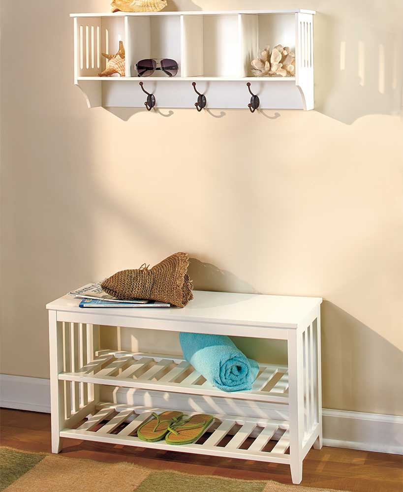 Entryway Benches Or Wall Shelves