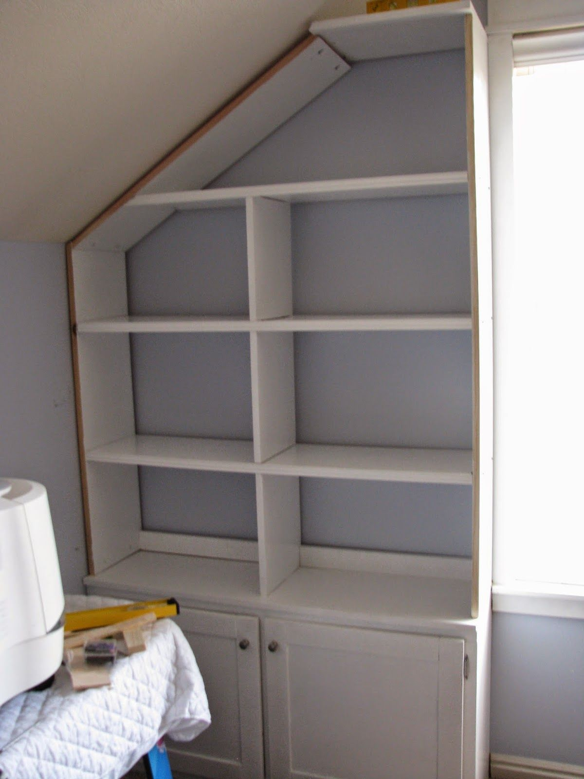 My First Big Project Of 2015 Was Making Some Built-in Shelves And