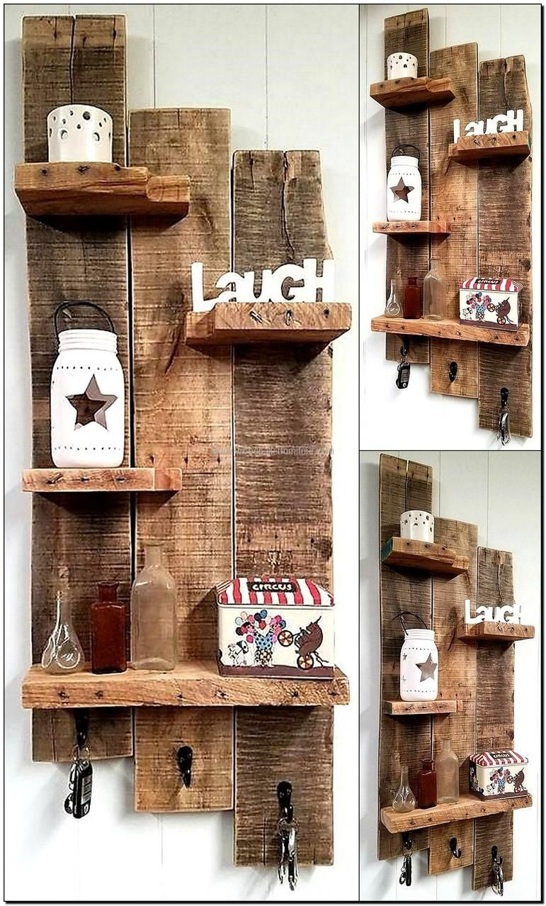 100 Ideas For Wood Pallet Recycling | Wood Pallet Shelves | Wooden