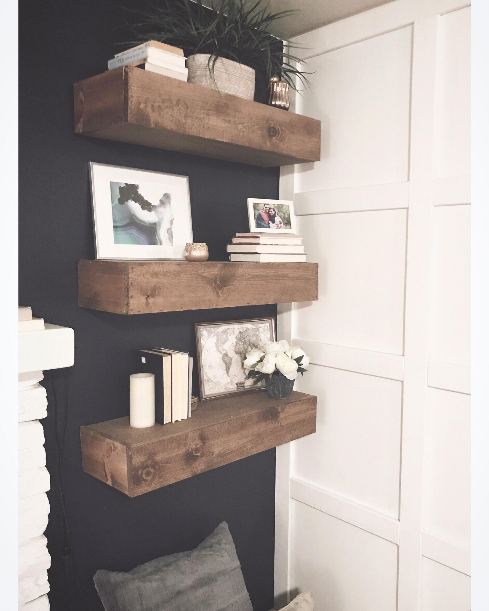 I Wanted Some Floating Shelves And My Husband Guy Delivered