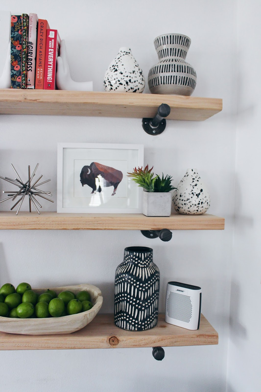 Xo, Mrs Measom: How To Style Your Shelves + How To Make