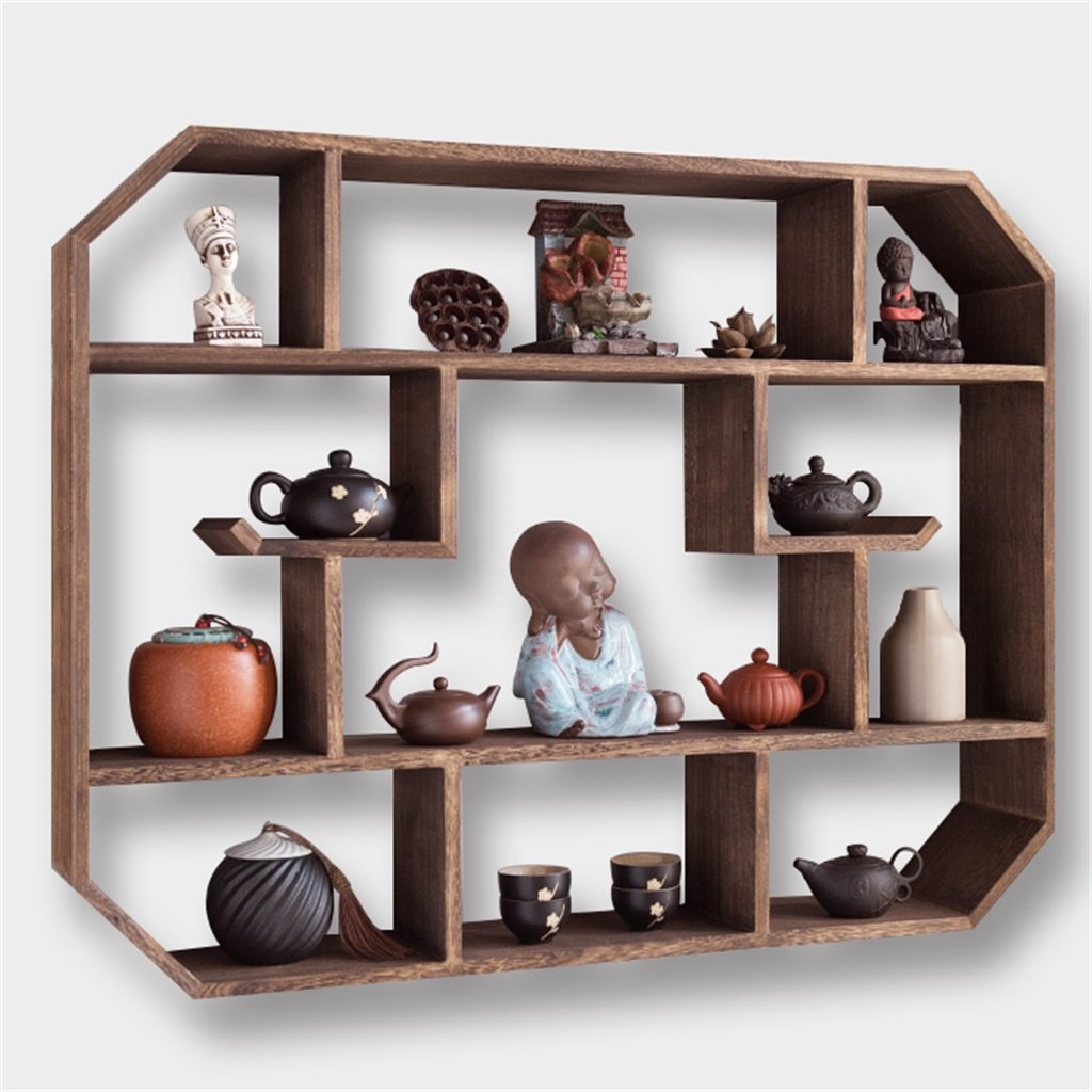 Wall-mounted Storage Rack Floating Shelves Pipe