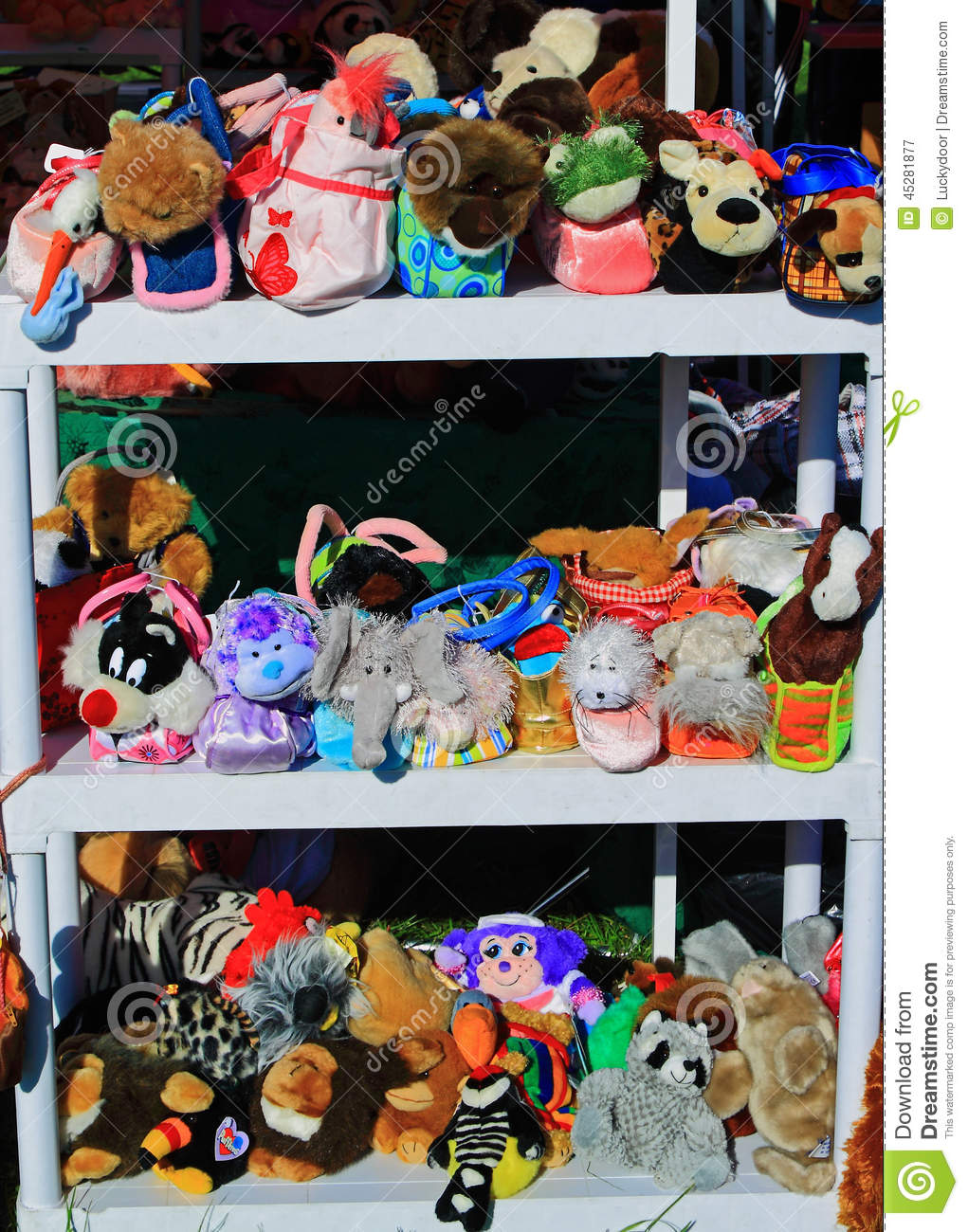 Stuffed Toys Stock Image Image Of Lots, Shelves, Colorful