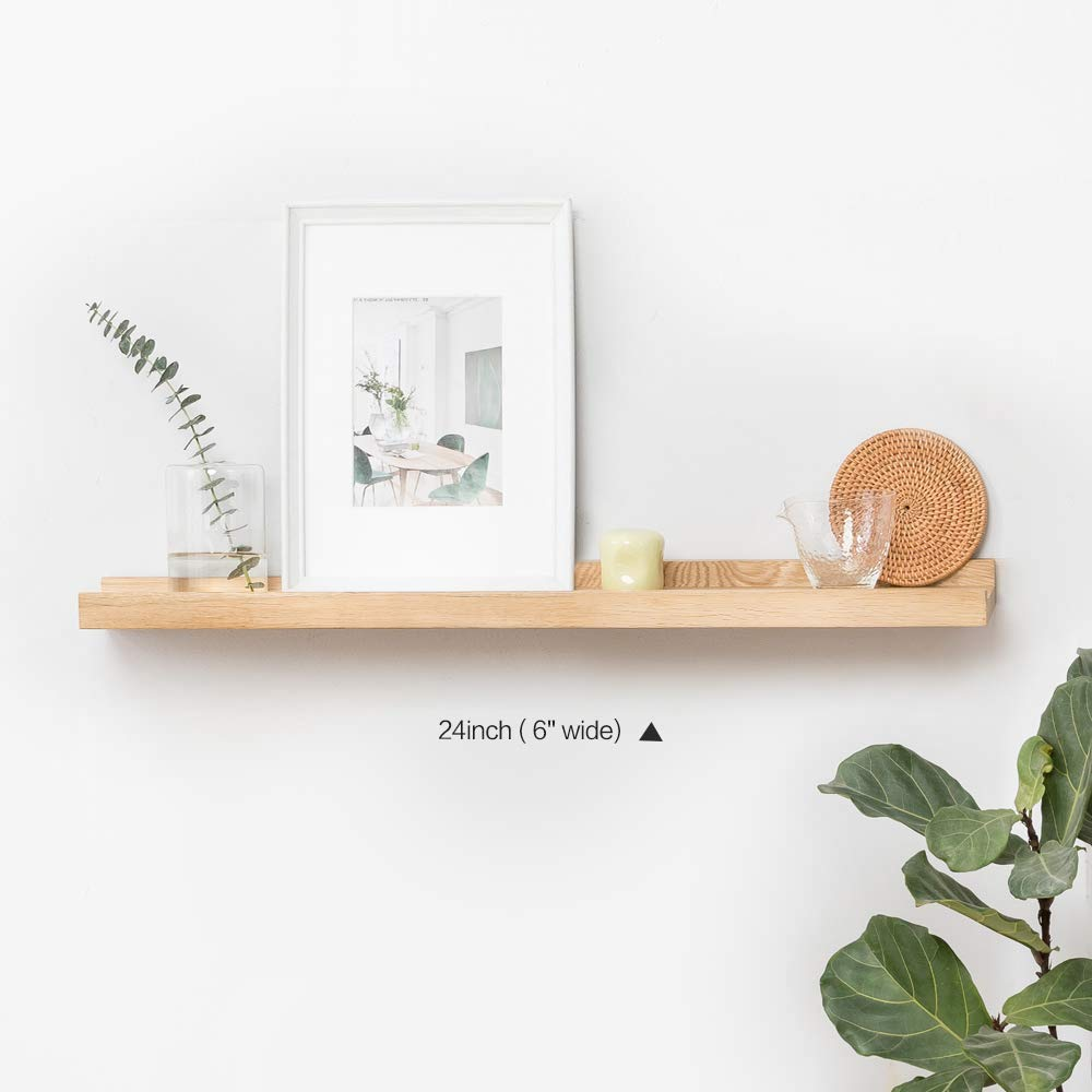Inman Floating Shelves Display Wooden Wall Mount Ledge Shelf Picture  Record/album Photo Ledge Small Hanging Kids Wall Bookshelf For Bedroom  Kitchen